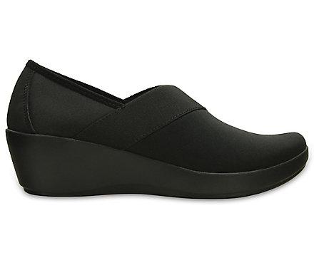 4f6265235e38 Women s Busy Day Stretch Asymmetrical Wedge - Crocs