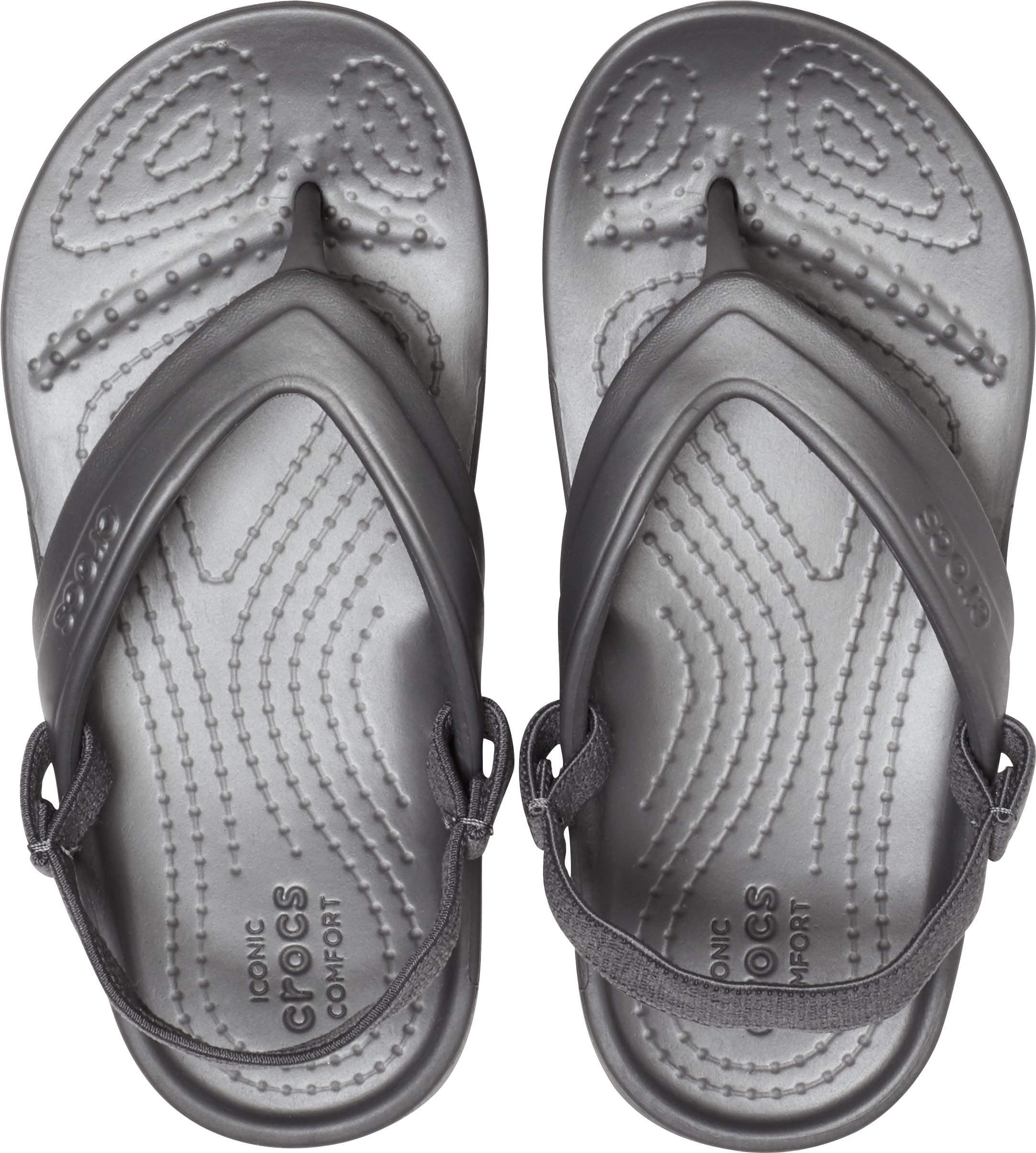 Crocs CLASSIC FLIP 202871 Girls Casual Dress Croslite Flip Flops Pink Lemonade