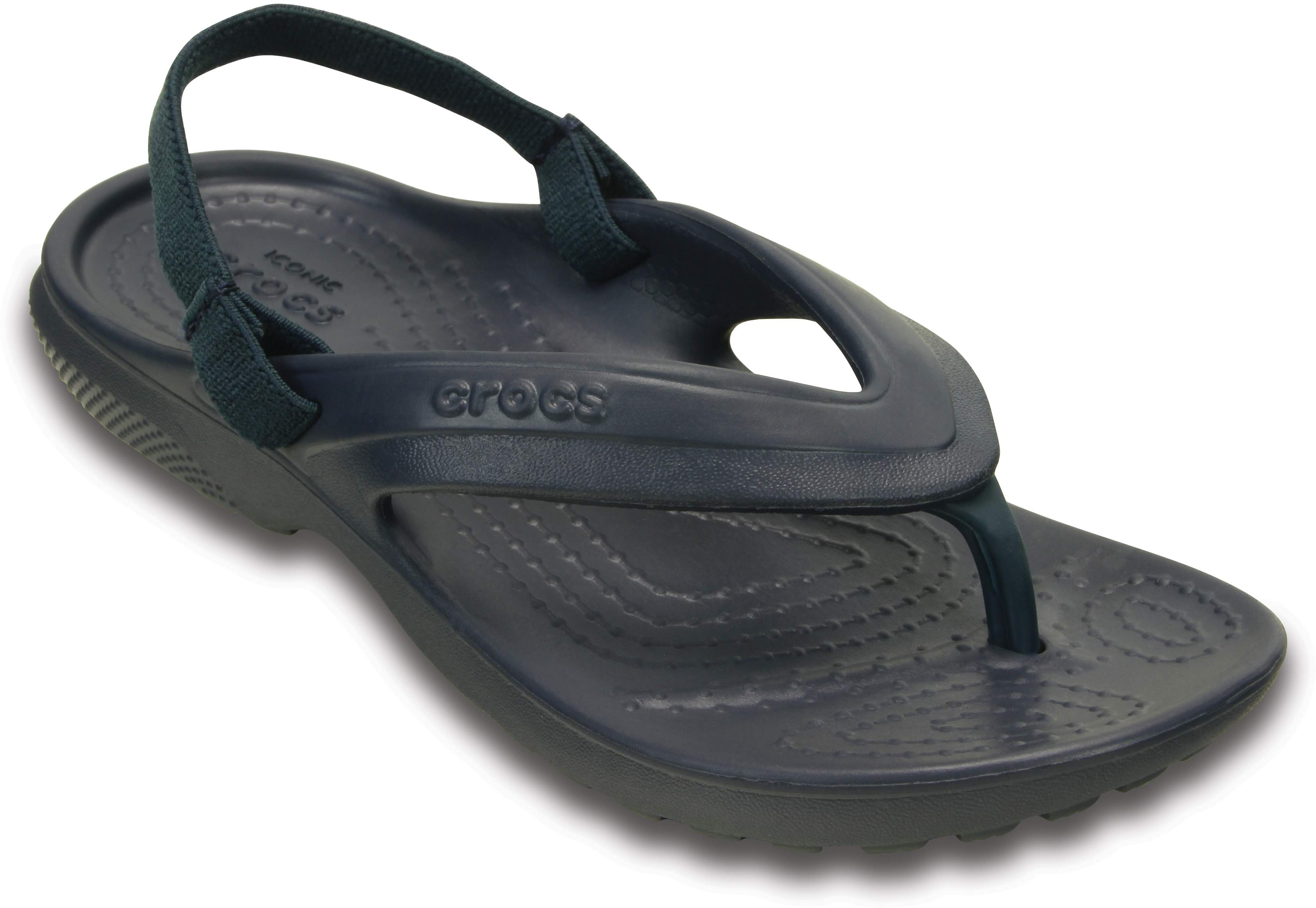 Crocs Relaxed Fit Navy Sandals For Kids