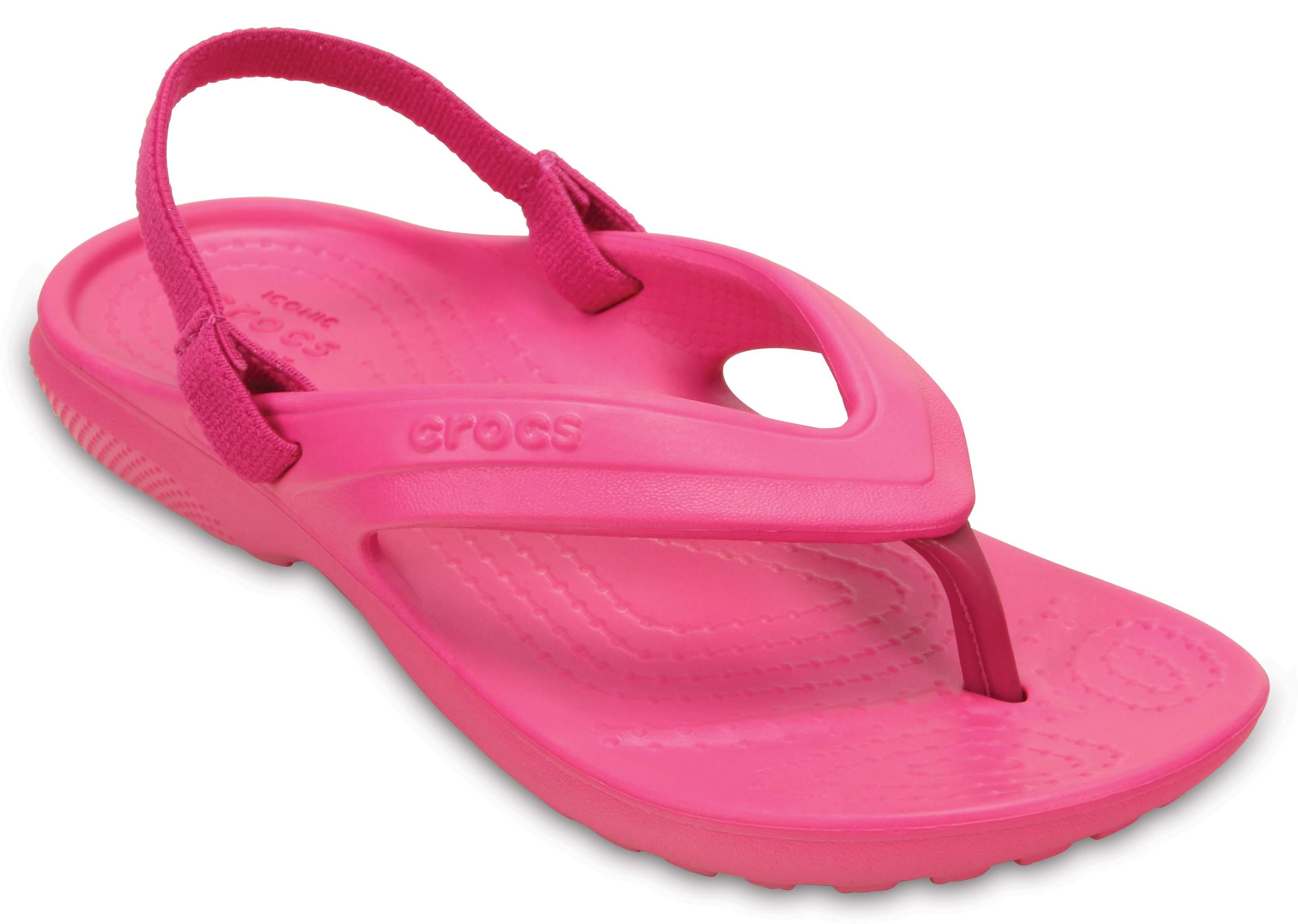 crocs Zehensteg Crocband Flip Kids Neo Minze Croslite Normal Kinder
