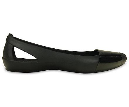 858cc38461 Women's Crocs Sienna Shiny Flat - Crocs