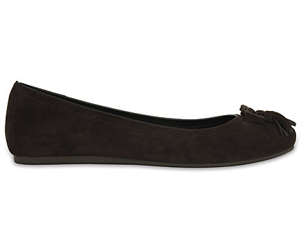 aafdf3868b36 Women s Crocs Lina Embellished Suede Flat - Crocs