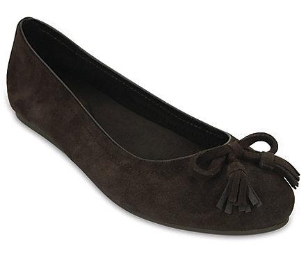 5ed6491d9ab011 Women s Crocs Lina Embellished Suede Flat - Crocs