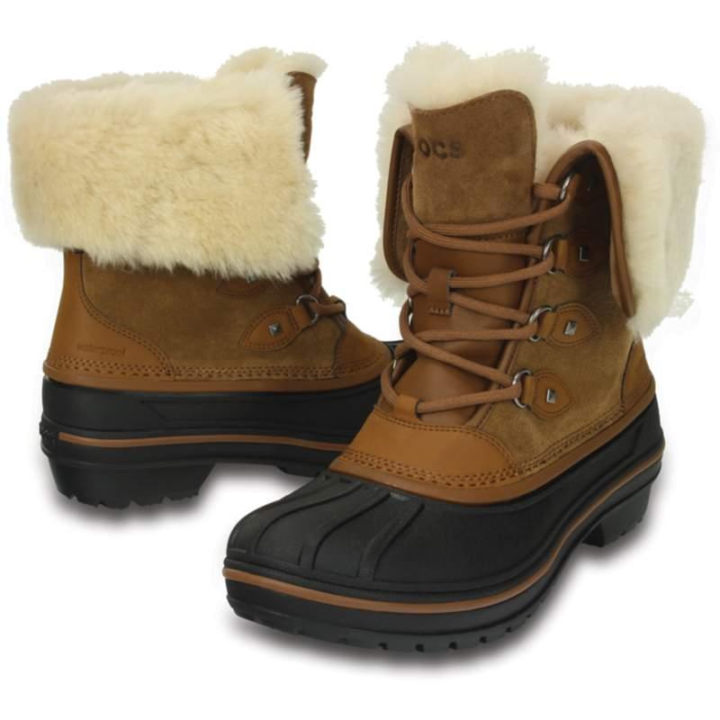 [クロックス公式] 長靴 オールキャスト 2.0 ラックス ブーツ ウィメン レディース、ウィメンズ、女性用 ブラウン/茶 23cm Women's AllCast II Luxe Boot 30%OFF セール アウトレット