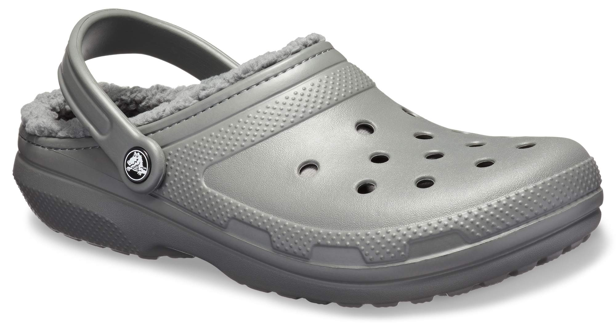 Crocs Womens Mens Classic Lined Clog Warm and Fuzzy Slippers