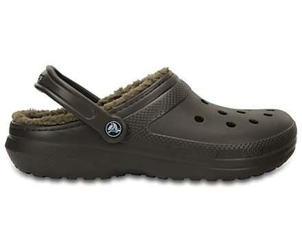 Crocs CLASSIC WINTER Kids Boys Girls Warm Lined Croslite Clogs Espresso//Khaki