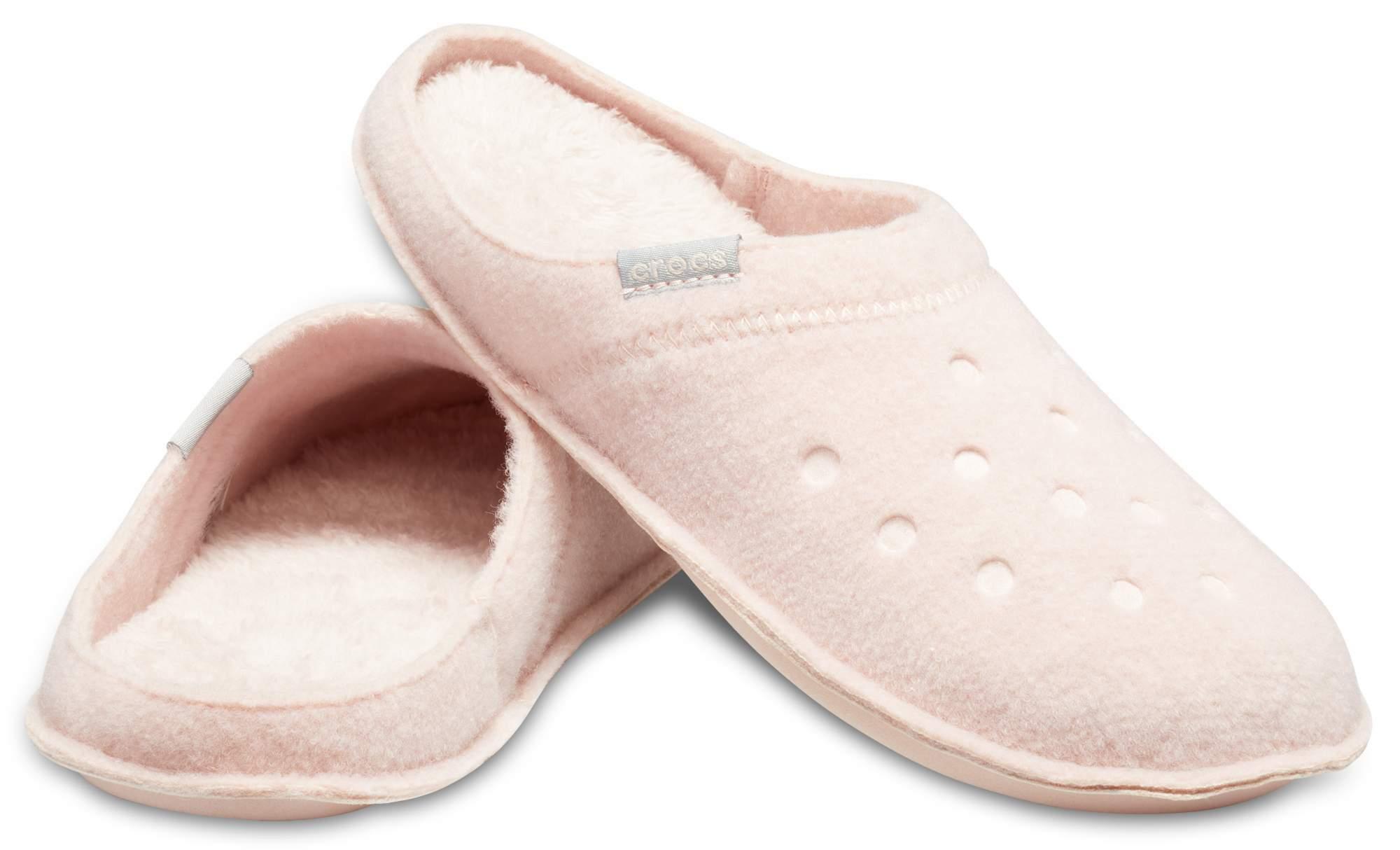 【クロックス公式】 クラシック スリッパ Classic Slipper ユニセックス、メンズ、レディース、男女兼用 ピンク/ピンク 22cm slipper