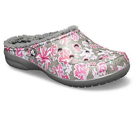 71eab7902ee4ff Women s Crocs Freesail Graphic Fuzz-Lined Clog - Crocs