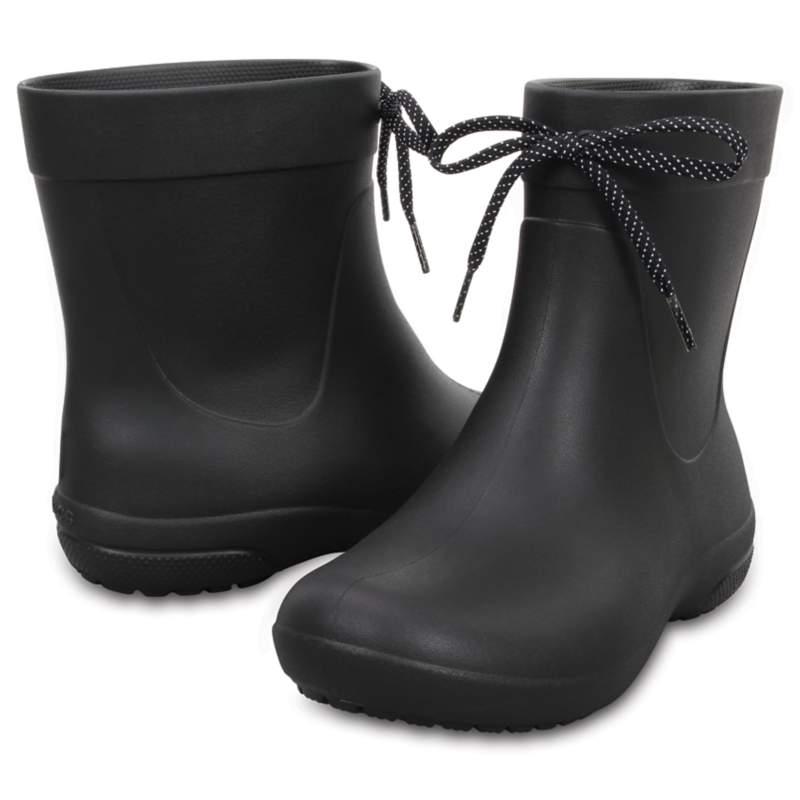 【クロックス公式】 クロックス フリーセイル ショーティー レイン ブーツ ウィメン Women's Crocs Freesail Shorty Rain Boot ウィメンズ、レディース、女性用 ブラック/黒 21cm,22cm,23cm,24cm,25cm boot ブーツ 30%OFF