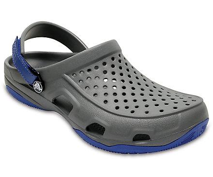 Crocs SWIFTWATER DECK CLOG Marine / Blanc 24Xq5