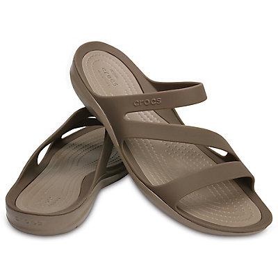 Buy Crocs Women's Swiftwater Sandal Brown online, shop Crocs