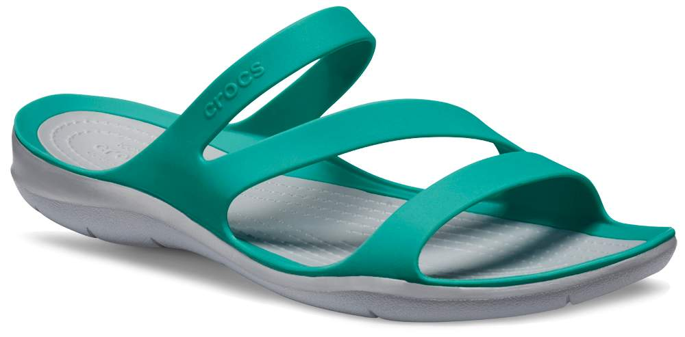 crocs Damen Sandale Swiftwater Sandal 203998 Blue Jean/Pearl White 33-34