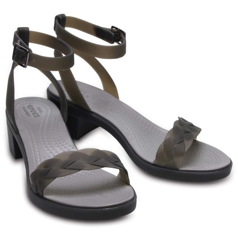 【クロックス公式】 クロックス イザベラ ブロック ヒール ウィメン Women's Crocs Isabella Block Heel ウィメンズ、レディース、女性用 ブラック/黒 21cm,22cm,23cm,24cm,25cm heel ヒール パンプス ミュール