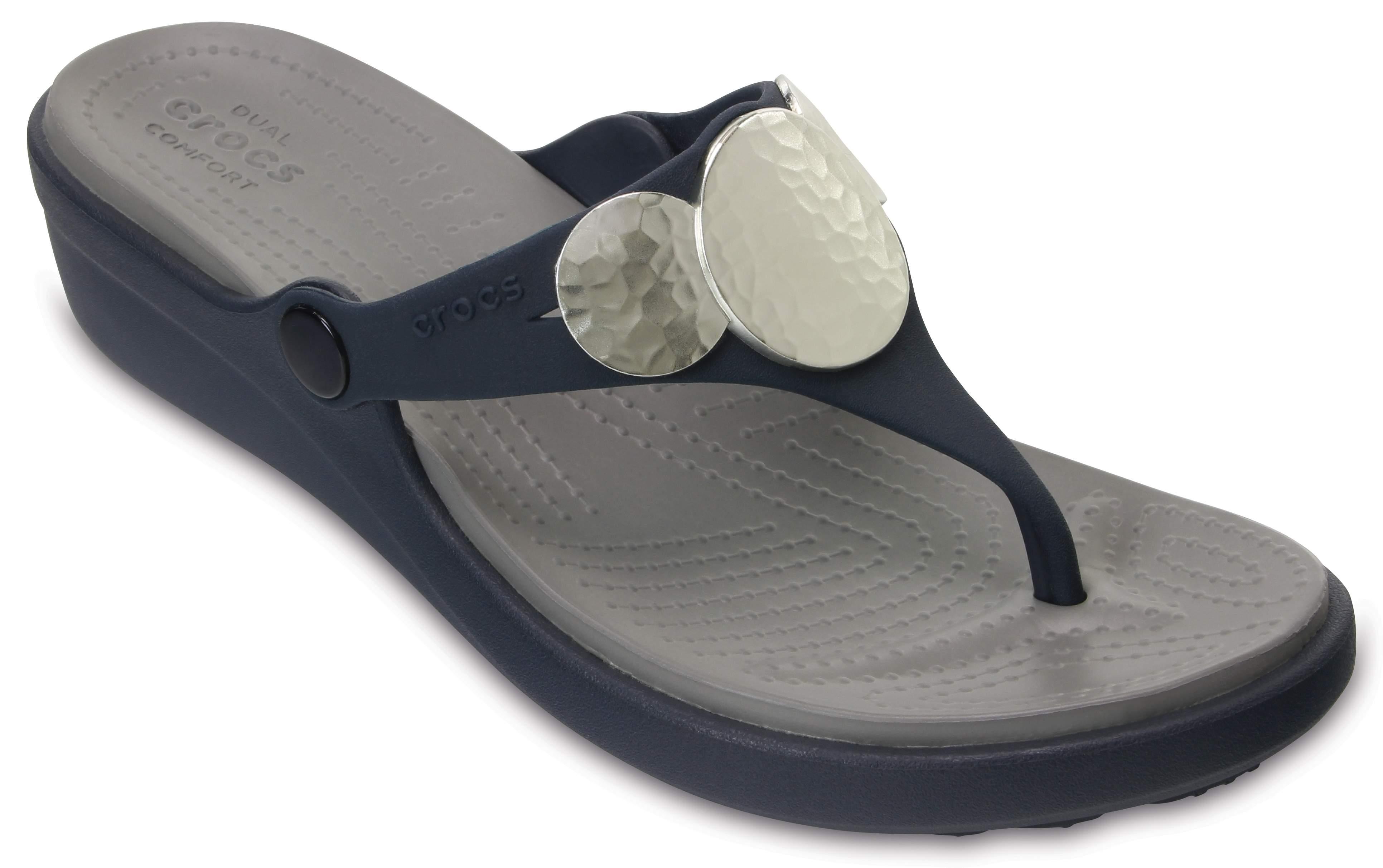 Sanrah Embellished Wedge Flip Crocs