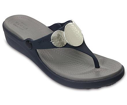 Sanrah Embellished Wedge Flip Crocs fnwHxJ