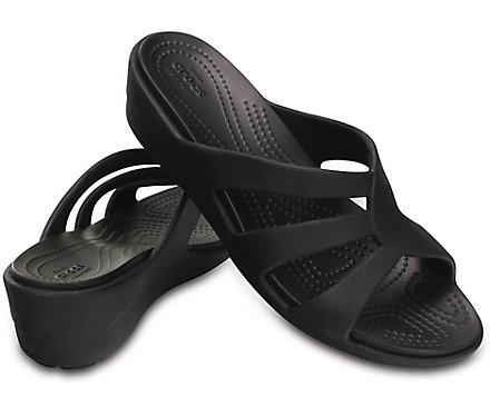 Crocs Sanrah Women's Strappy ... Wedge Sandals 8f1WgY