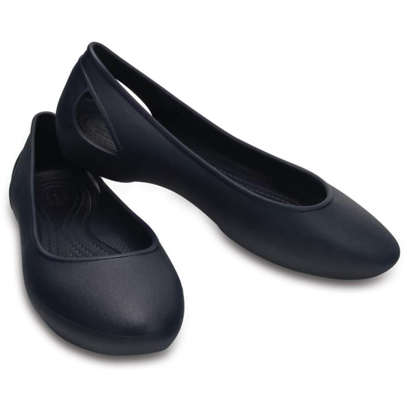 【クロックス公式】 クロックス ローラ フラット ウィメン Women's Crocs Laura Flat ウィメンズ、レディース、女性用 ブルー/青 21cm,22cm,23cm,24cm,25cm,26cm flat フラットシューズ バレエシューズ ぺたんこシューズ 30%OFF
