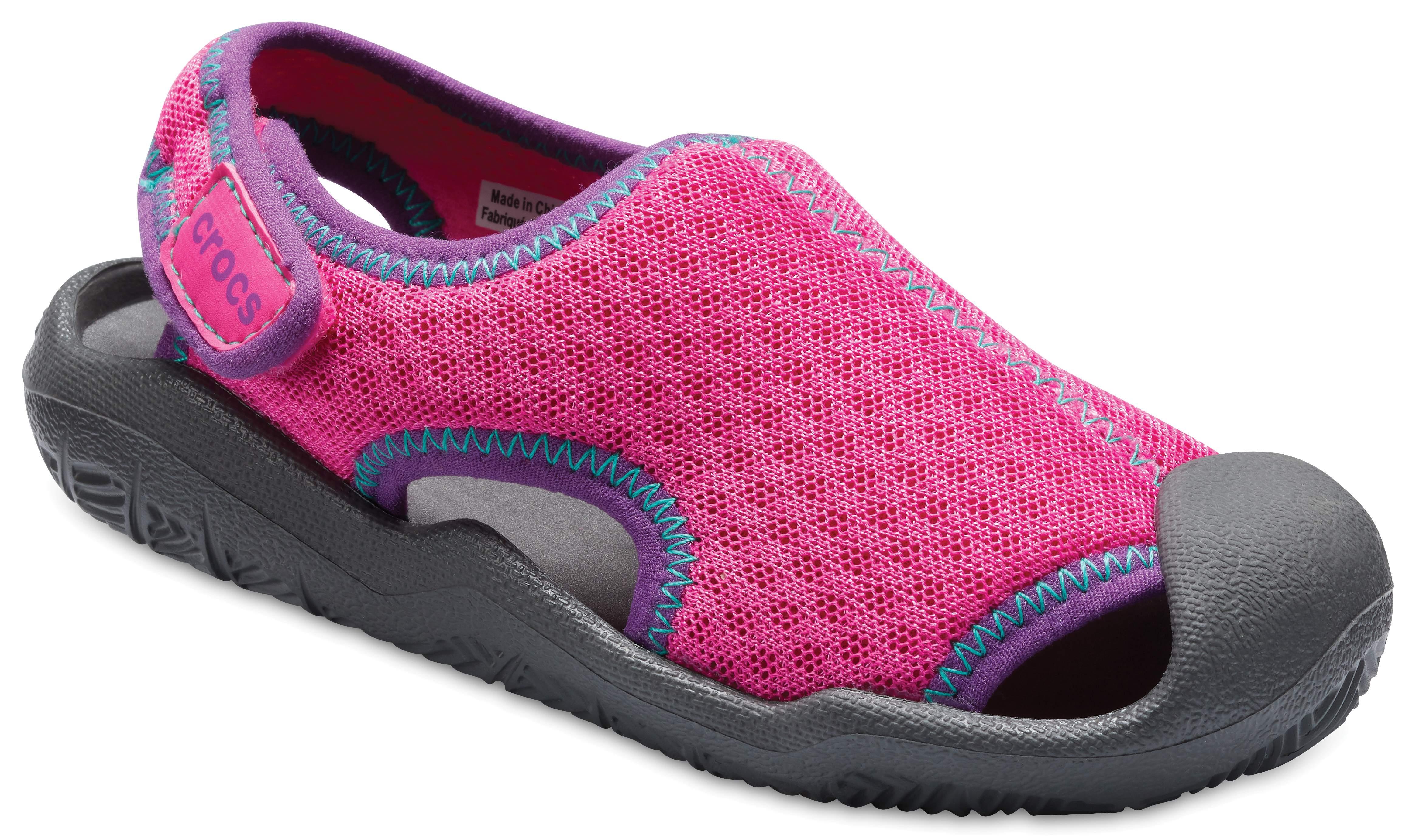 Crocs Kids' Swiftwater™ Easy-On Heathered Shoe Children Girls Boys