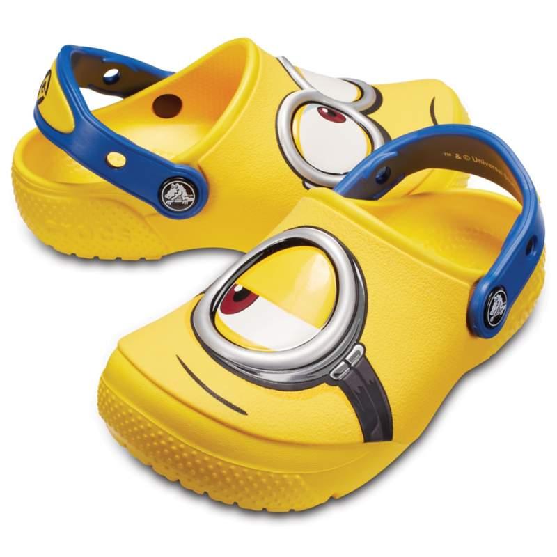 【クロックス公式】 クロックス ファン ラブ ミニオンズ クロッグ キッズ Kids' Crocs Fun Lab Minions Clog ユニセックス、キッズ、子供用、男の子、女の子、男女兼用 イエロー/黄色 19.5cm clog クロッグ サンダル