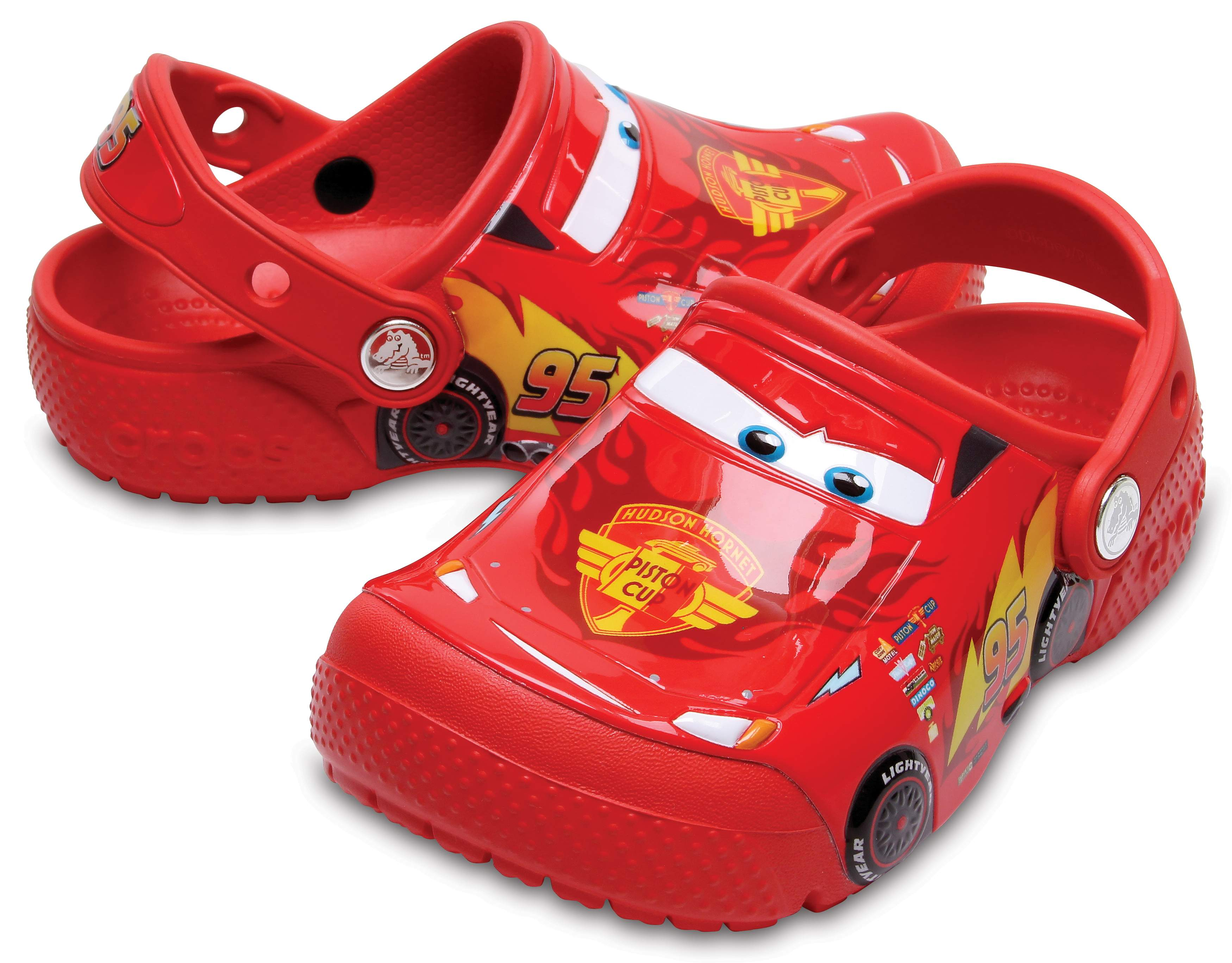 crocs Fun Lab Cars Clog Kids, Jungen Clogs, Rot (Flame), 27/28 EU