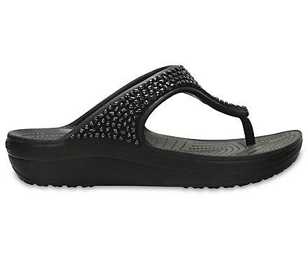 Sloane Women's Flip Crocs Embellished KJlcF1