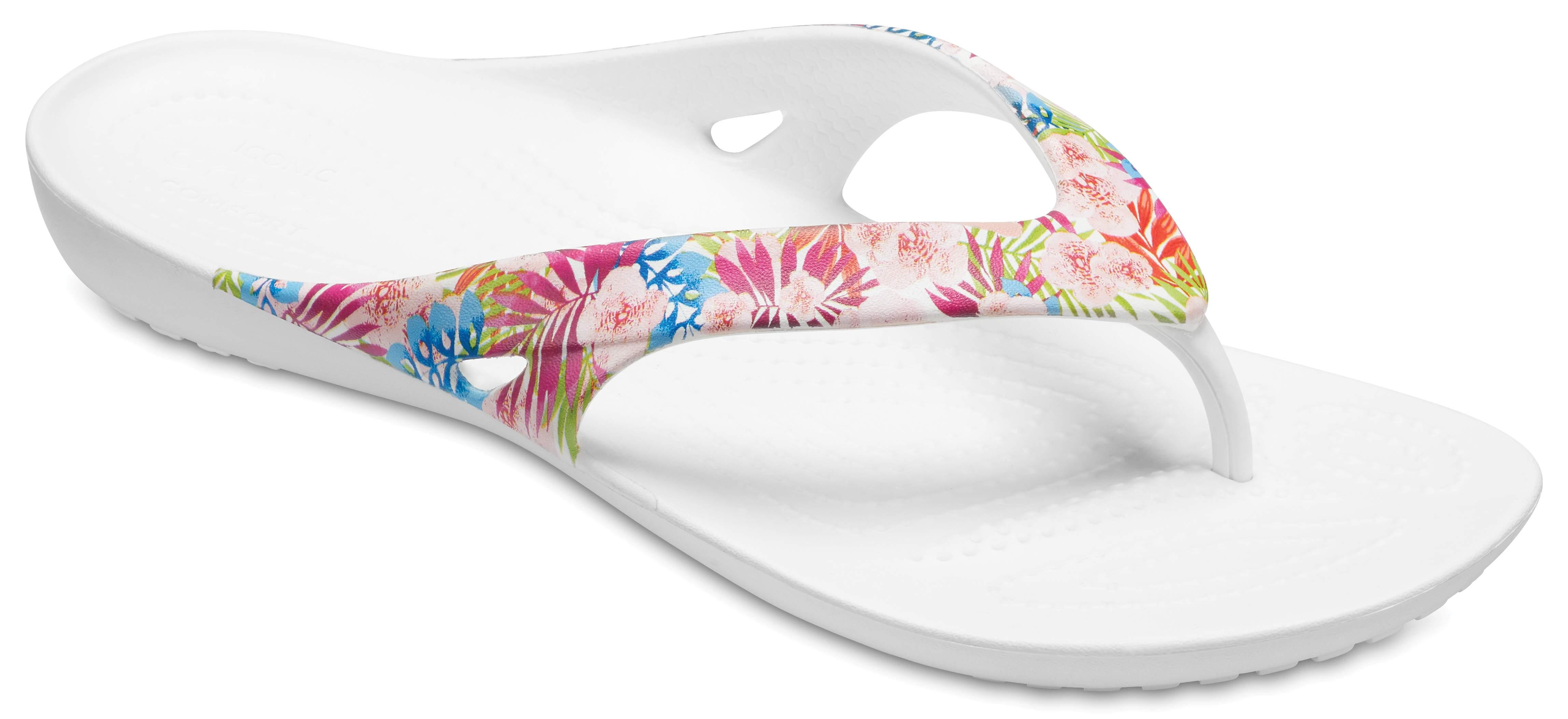 crocs Mujeres Kadee Ii Graphic W Flip Flop, Flamingo, 7 M US