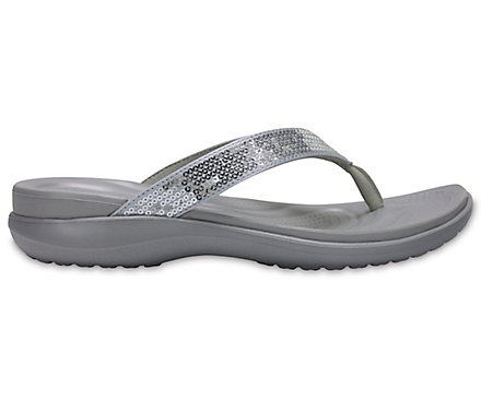 bb7b6deb6865 Women s Capri V Sequin Flip - Crocs