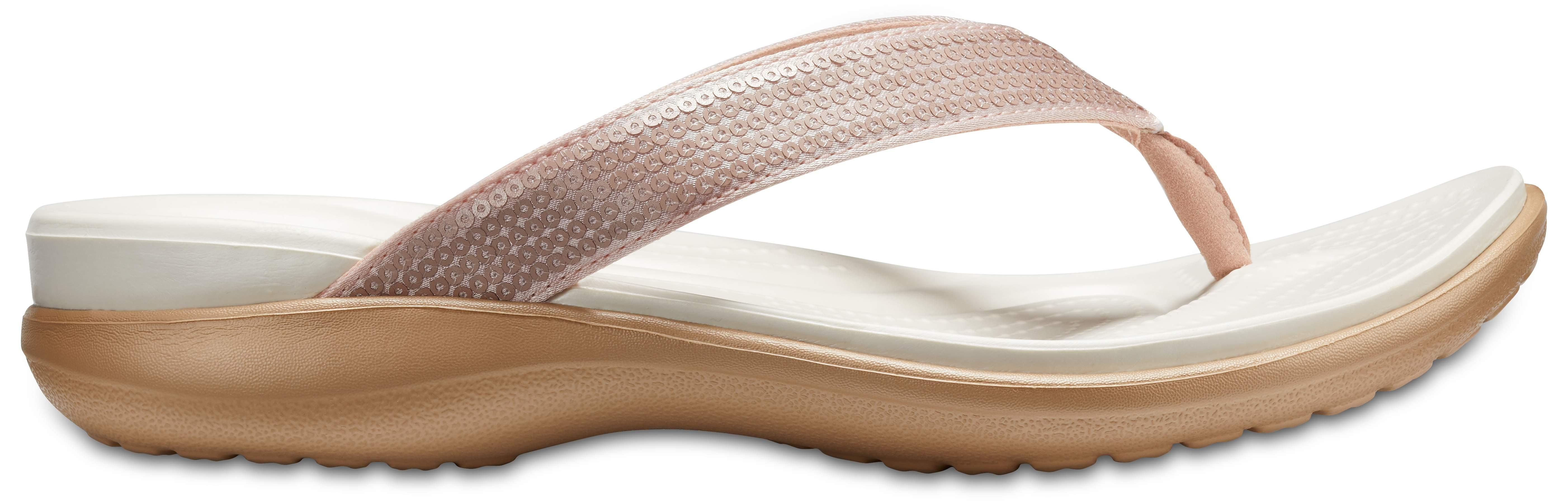 Chaussures Femmes Sandales Flip Crocs Capri V Sequin [204311 Black]