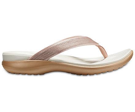 Chaussures Femmes Sandales Flip Crocs Capri V Sequin [204311 Black] 6irjM7S