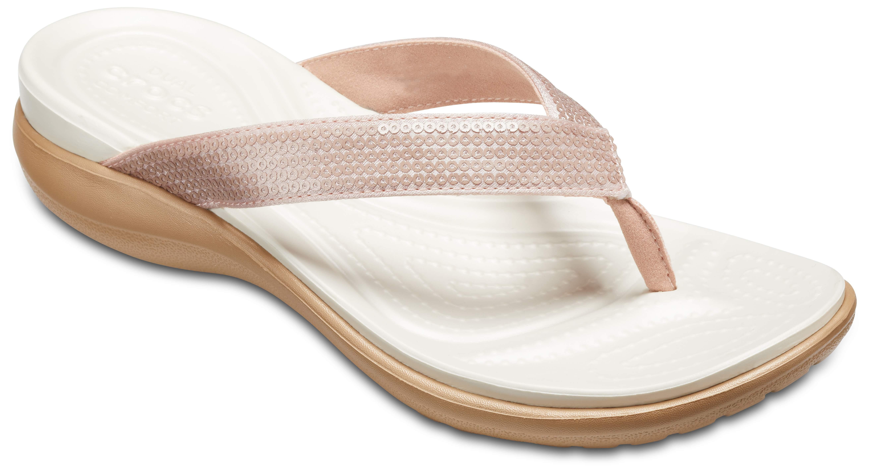Crocs - Damen - Capri V Sequin W - Zehensandalen - rosa