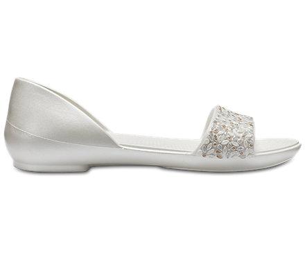 Women s Crocs Lina Embellished D Orsay Flat - Crocs 58621e9085f