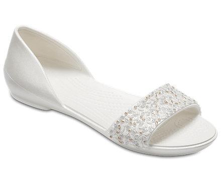 8218849d5a5c41 Women s Crocs Lina Embellished D Orsay Flat - Crocs