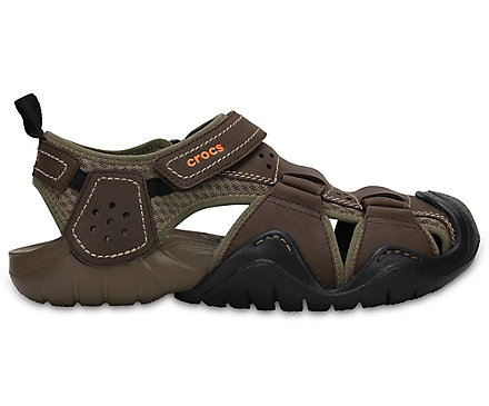 f5dfdaa908e Men s Swiftwater™ Leather Fisherman - Sandal - Crocs