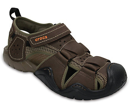 4ee2b4e38344 Men s Swiftwater™ Leather Fisherman - Sandal - Crocs