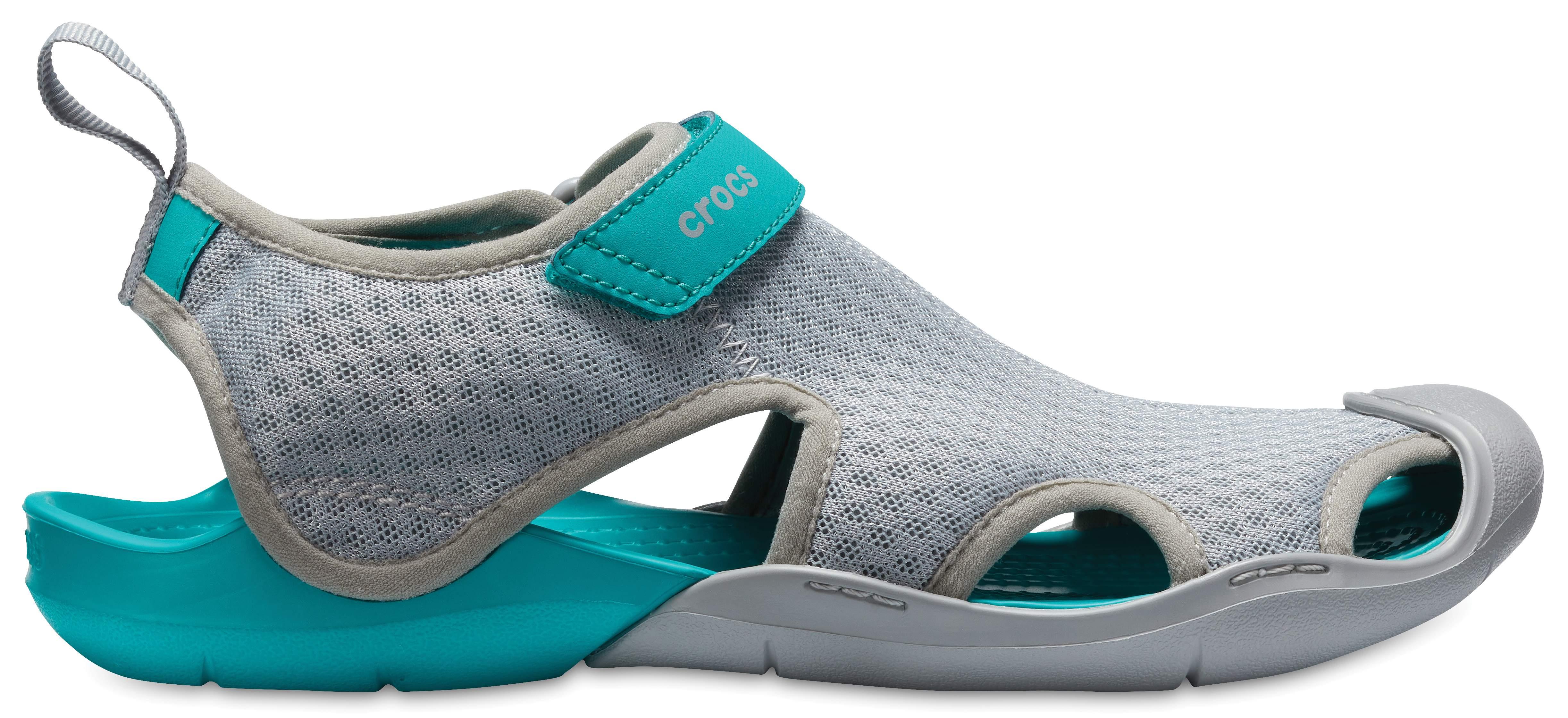 Crocs Swiftwater Mesh Grey Flip Flops