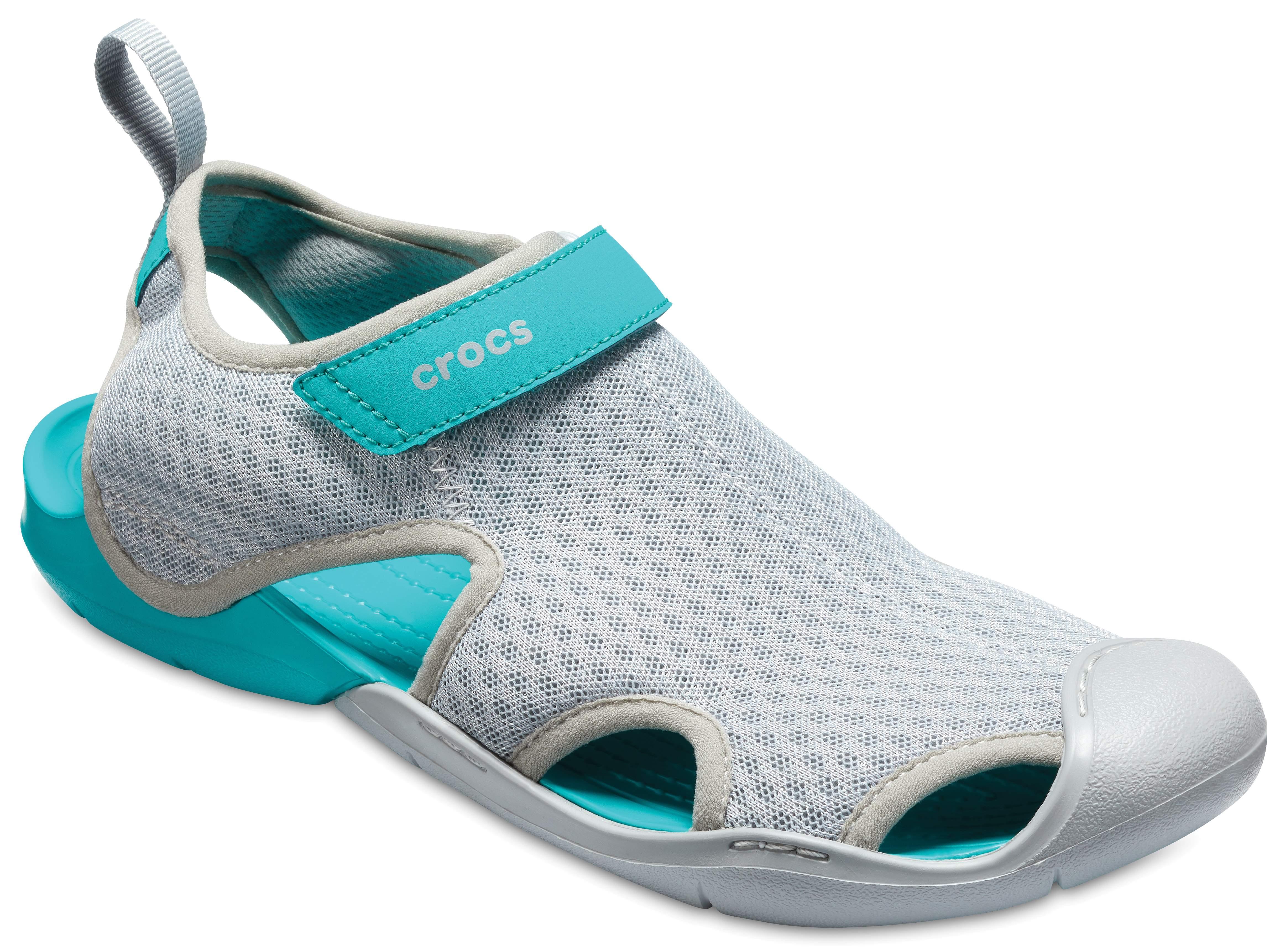 Womens Swiftwater Mesh W Wal Wedge Heels Sandals Crocs