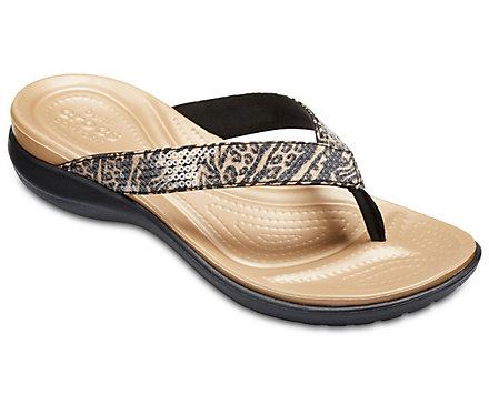 Crocs Capri V Graphic Sequin Flip OjeXWBNjM