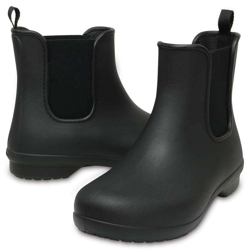 [クロックス公式] 長靴 クロックス フリーセイル チェルシー ブーツ ウィメン レディース、ウィメンズ、女性用 ブラック/黒 23cm Women's Crocs Freesail Chelsea Boot 20%OFF セール アウトレット
