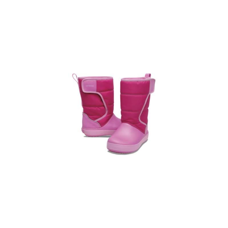 【クロックス公式】 ロッジポイント スノー ブーツ キッズ Kids' LodgePoint Snow Boot ユニセックス、キッズ、子供用、男の子、女の子、男女兼用 ピンク/ピンク 15.5cm,16.5cm,18cm,18.5cm boot ブーツ