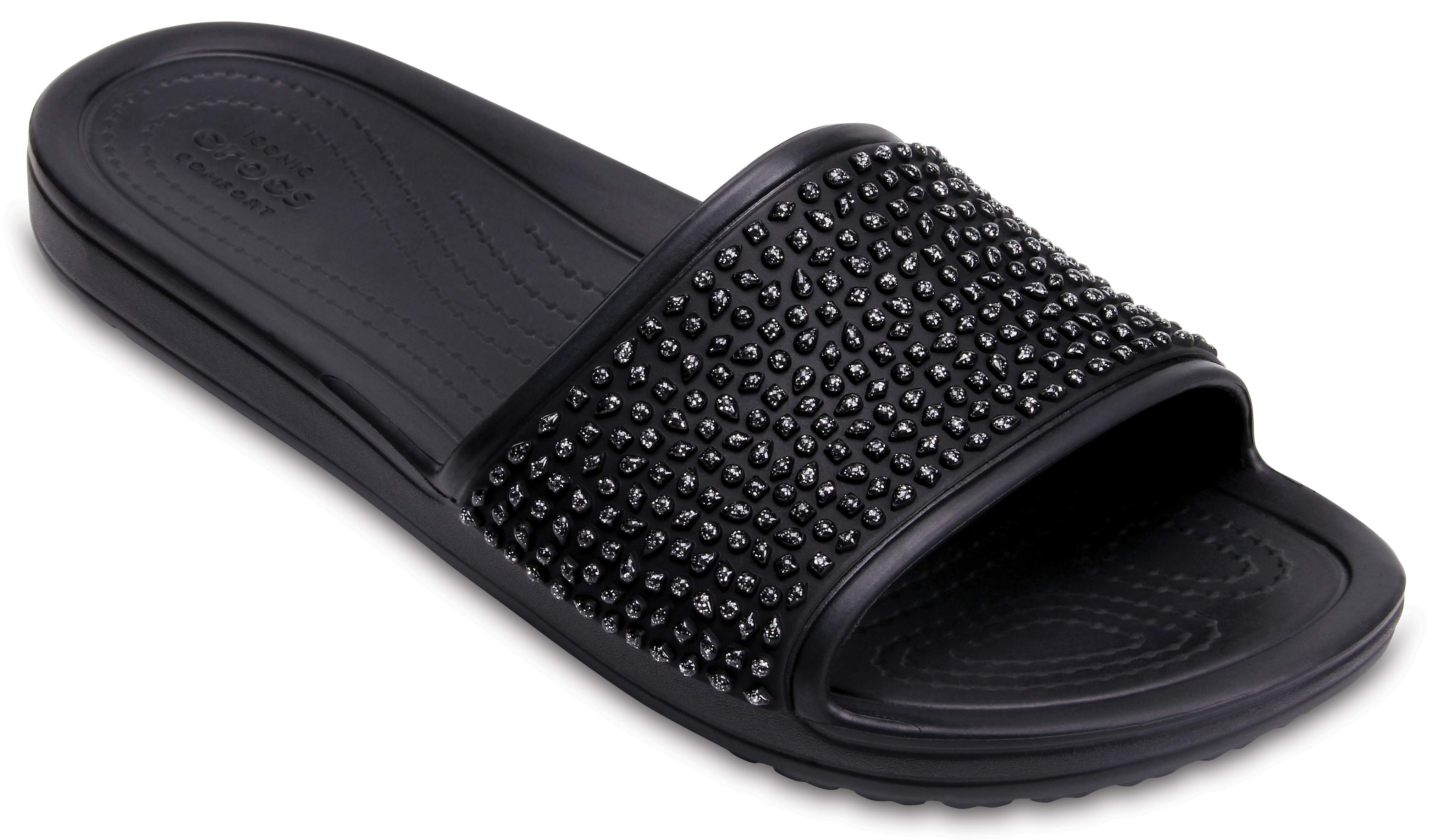 CROCSSLOANE TIMELESS PEARL RELAXED FIT - Mules - black