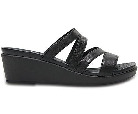 b9839360e9ca5 Women s Crocs Leigh-Ann Leather Mini Wedge