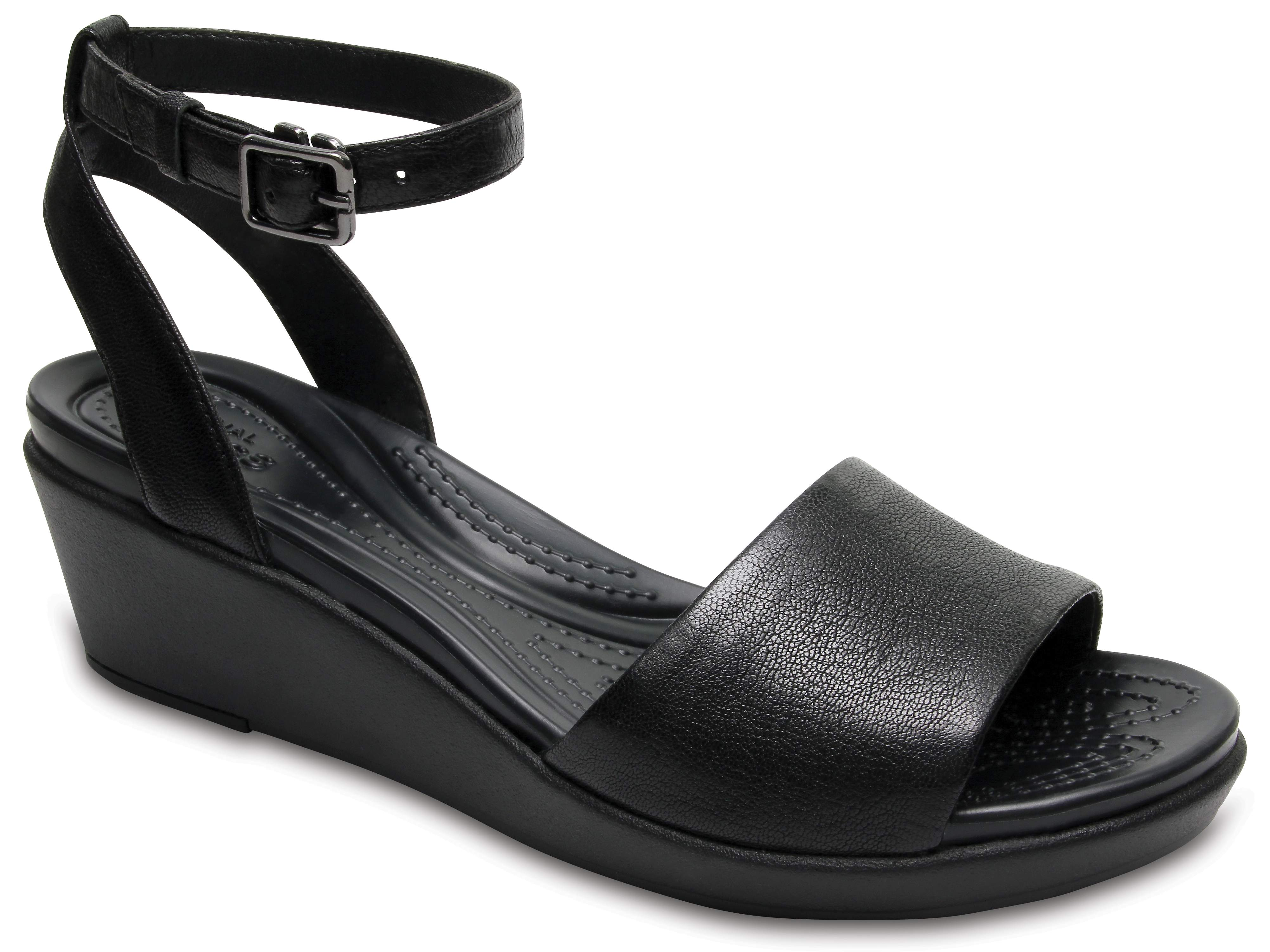 Crocs Leigh-Ann Wedge Leather