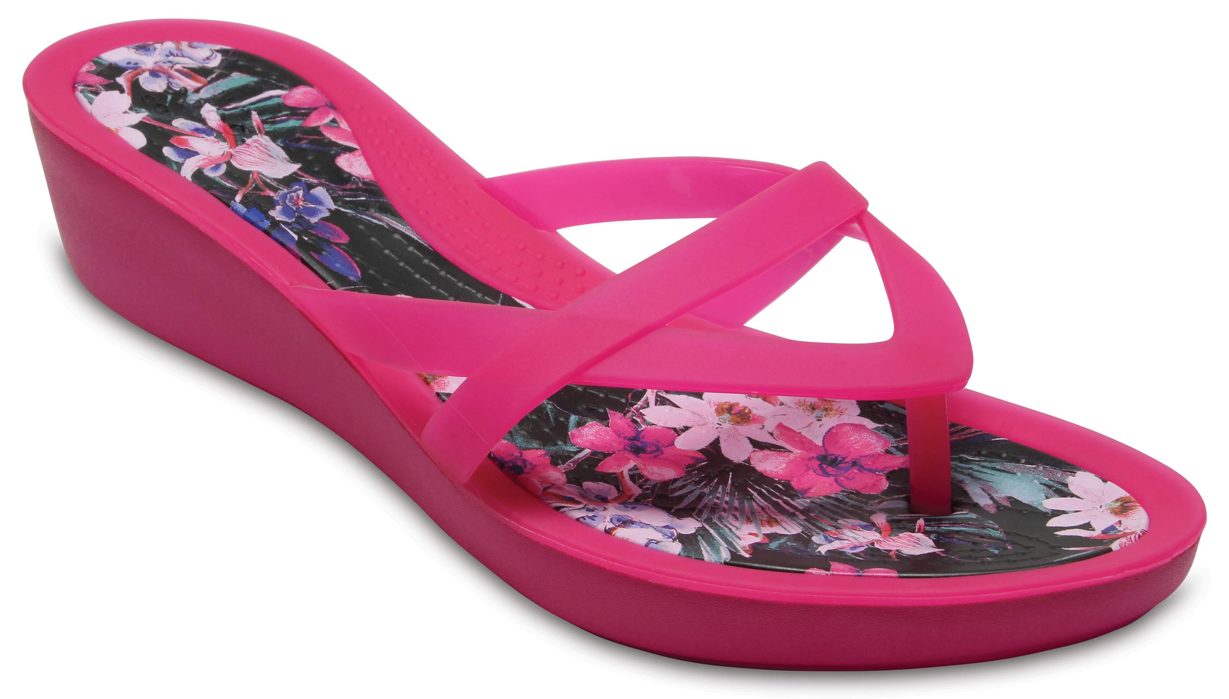 Isabella Print Wedge Flip Crocs
