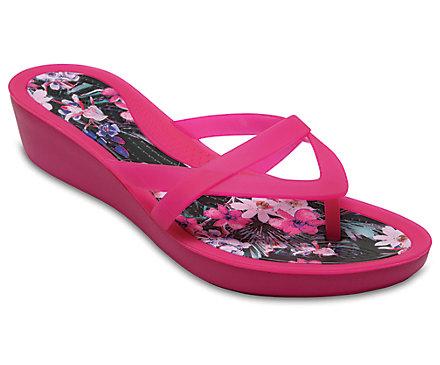 Isabella Print Wedge Flip Crocs 8UdaEuYAff