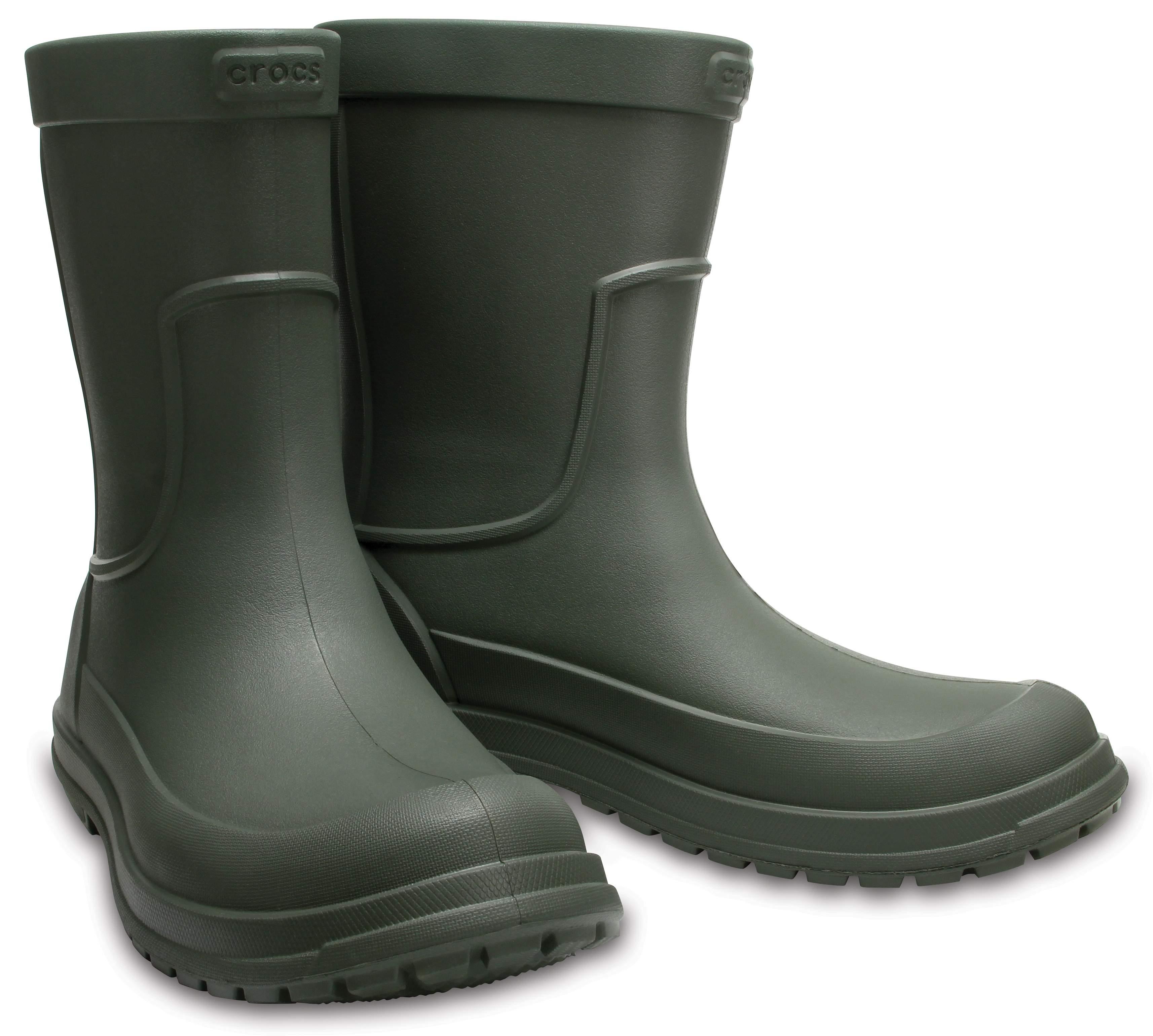 Hommes Crocs Rainboot Un Des Bottes En Caoutchouc, Noir, Taille: 43/44
