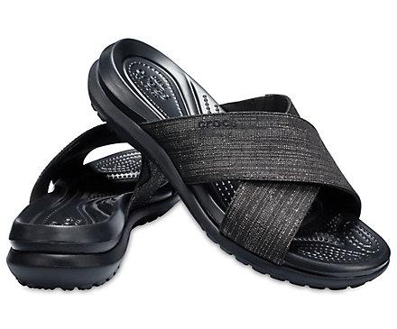 4549ca3941b3 Women s Capri Shimmer Cross-Band Sandal - Crocs