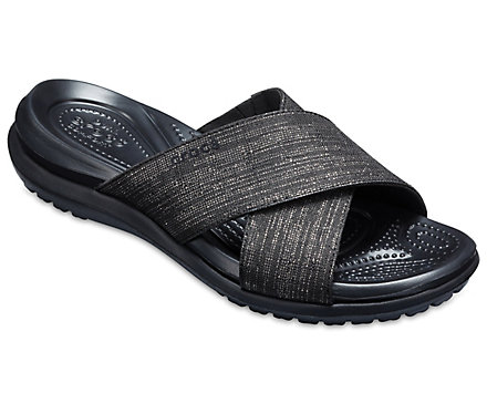 b49331517476 Women s Capri Shimmer Cross-Band Sandal - Crocs