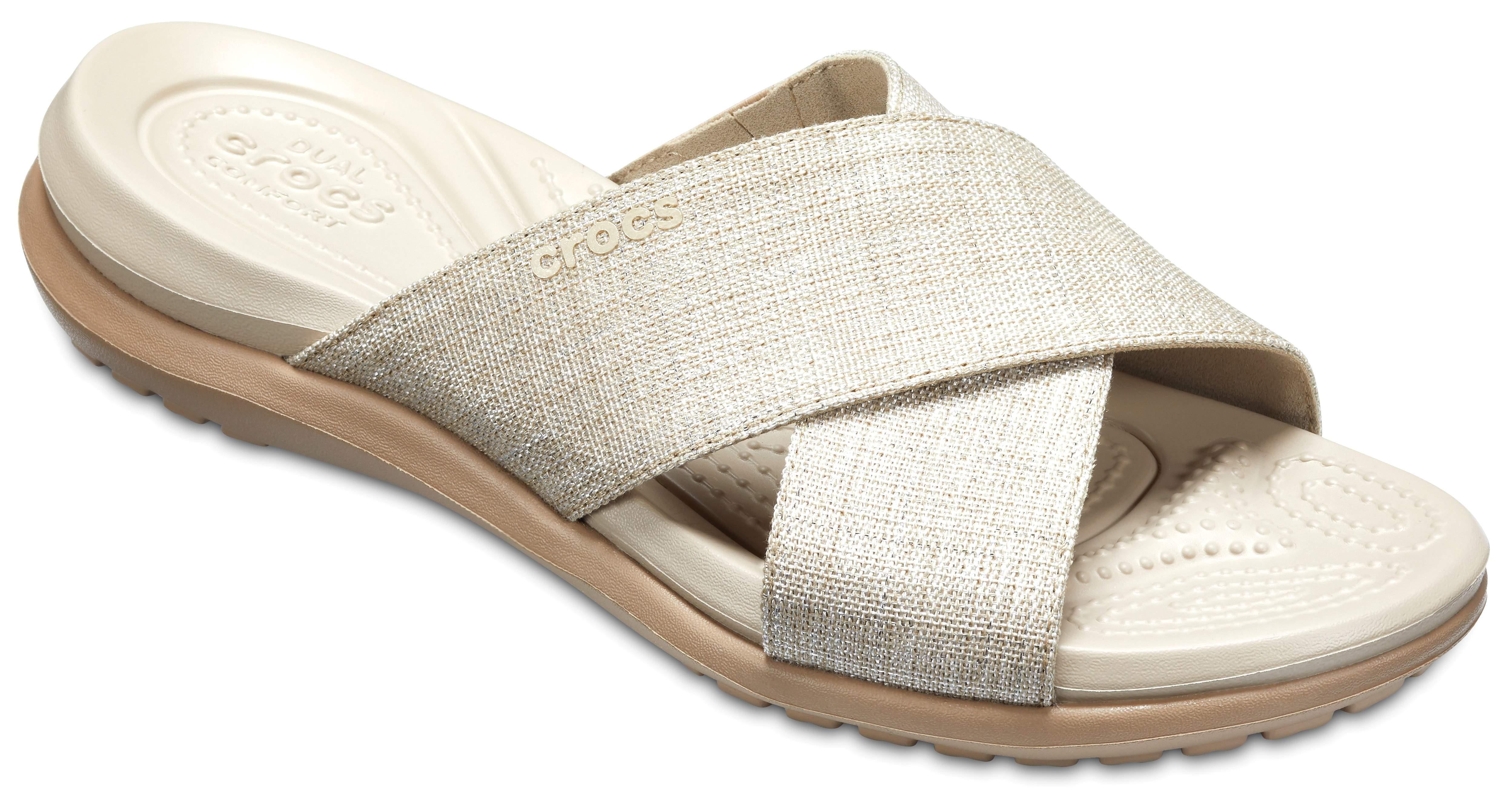Crocs Capri Shimmer Women's ... Slide Sandals