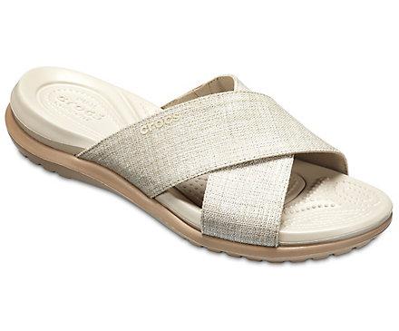 Crocs Capri Shimmer Women's ... Slide Sandals affordable for sale cheap sale 2014 unisex 100% authentic cheap price y0hffKpT
