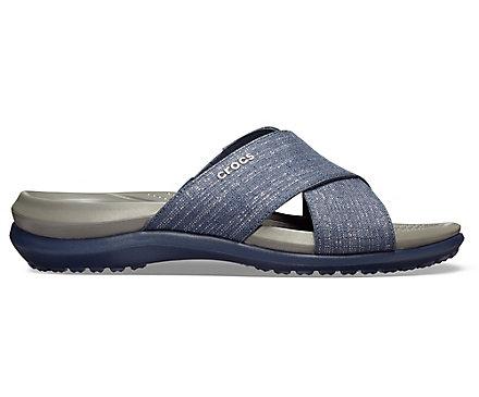 5b3b0cadb957 Women s Capri Shimmer Cross-Band Sandal - Crocs